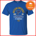 St. Louis Blues 2019 NHL T-Shirt Western Conference Champs Men's TShirt S-5XL $11.99 USD on eBay