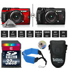 Olympus Tough TG-5 Digital Camera - Black Or Red + Floating Strap - 32GB Bundle