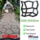 1/2/4Pcs Driveway Paving Mold Patio Stepping Stone Pavement Paver Path DIY Maker image
