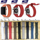 Genuine Leather Loop Magnetic Loop Watch Band For Apple Watch 38/40mm 42/44mm image