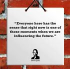 Steve Jobs Quote Ceramic Wall Hanging Art Sign TILE Plaque Home Gift Sign