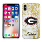 Georgia Bulldogs Marble iPhone X Case