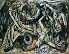 The Night by German Max Beckmann. Abstract Repro. Highest Quality U.S.A. Prints