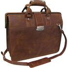 AmeriLeather Leather Doctor's Carriage Bag 3 Colors Non-Wheeled Business Case