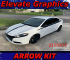 Dodge Dart Arrow Side And Hood Stripes Vinyl Graphics 3M Decal Sticker 2013-2020 $49.99 USD on eBay