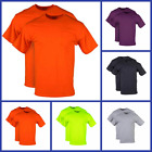 Mens Workwear DryBlend T Shirts Solid Tops Tees With Pocket Plaid Pack Of 2 New