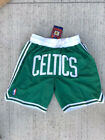 NWT Boston Celtics Green Vintage Mens Basketball Stitched Game Shorts Size S-2XL