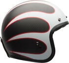 Bell Custom 500 Carbon Ace Cafe Gloss Matte White Black Red Ton Up Helmet $239.97 USD on eBay