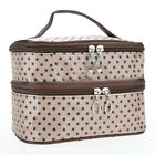 Travel Multifunction Cosmetic Bags Organizer Double Layers Toiletry Makeup Case