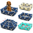 New Pet Canvas Bed Cushion Pads Soft Comfy Fabric Washable Dog Cats Puppy Mats