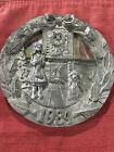 "Michael Ricker Pewter "" Southerm Christmas 1984"" Decor Plate"