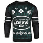 Forever Collectibles NFL New York Jets Men's Printed Ugly Sweater, Green $41.5 USD on eBay