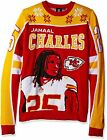 KLEW NFL Men's Kansas City Chiefs Jamaal Charles #25 Ugly Sweater $29.99 USD on eBay