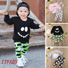 2PCS Toddler Kids Baby Boy Girls Outfits Clothes T-shirt Tops + Floral Pants