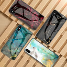 UK Marble Tempered Glass Hard Case Cover For iPhone XS Max XR X XS 7/8 6/6S Plus