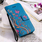 Luxury Flip Wallet Case Butterfly Leather Women's Cover for iPhone X 8 7 6S Plus