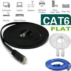 RJ45 CAT6 6FT 10FT 30FT 50FT 100FT 200FT Ethernet Network Cable Cord Flat LOT US