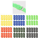 10pcs High Quality BLUE Silicone Rubber Watch Band Strap Loop Locker Keeper 24mm