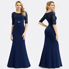 Ever-Pretty US Womens Evening Dress Lace Half-sleeve Fishtail Bodycon Prom Gowns