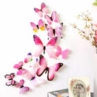 12 Pcs 3d Butterfly Wall Stickers Art Decal Home Kids Room Decorations Decor Uk