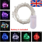 2m 20led Fairy Lights String Battery Operated Silver Wire Xmas Home Party Decor