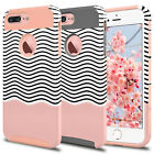 For Apple iPhone 8/7/5C/4/4S Shockproof Silicone Case Hybrid Rugged Rubber...