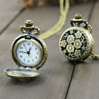 Antique Steampunk Quartz Watch Carving Pendant Necklace Vintage Pocket Watch   image