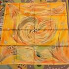 HERMES Carre 88 SCARF Orange-Yellow 100% Silk Made in FRANCE Authentic New
