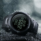 Men Compass Watch Countdown LED Digital Wrist Watches Sports Outdoor Military image