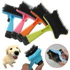 Pet Dog Cat Hair Grooming Brush Comb Easy to Clean Hair Fur Shedding Tools
