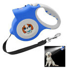 5M Retractable Dog Leash With Light Flashlight Extending Puppy Walking Leads