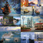 DIY Ship Natural Scenery Paint By Number Kit Acrylic Oil Painting Art Wall Decor