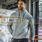 JCB Classic Over Head Hoody Mens Pullover Plain Work Hoodie Athletic Gym Skater