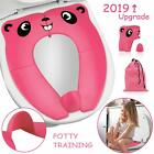 2019 Upgrade Folding Potty Seat Portable Cover with Splash Guard for Toddler Kid image