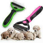 Pet hair brush double-sided rake comb dog grooming tie knot shedding dogs comb