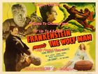 """FRANKENSTEIN MEETS THE WOLF MAN 1949 Ilona = POSTER 10 SIZES 18"""" Up To 4.5 Feet"""
