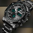 Luxury Men Fashion Stainless Steel Military Army Analog Sport Quartz Wrist Watch image