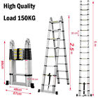 Portable Extension Aluminum Telescopic Collapsible Foldable Ladder USA