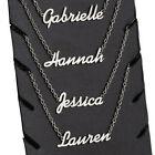 Personalized ANY NAME Necklace Ankle or Bracelet Nameplate Gift Stainless Steel image