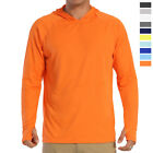 UPF 50+ Men Sun Protection T-Shirt Quick Drying Long Sleeve Outdoor Sport Hoodie image