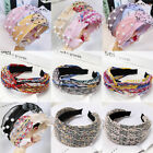 Women Pearl Knot Headband Hairband Wide  Hair Hoop Fashion Accessories Party