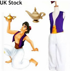 Adults Mens Arabian Prince Aladdin Costume Bollywood Aladdin Fancy Dress Outfit