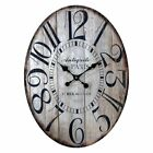 American Mercantile Distressed Paris 17 in. Oval Wall Clock