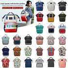 Mummy Mom Maternity Nappy Diaper Bag Large Changing Baby Travel Backpack Handbag