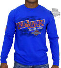 Harley-Davidson Mens Open Road Wanderer Trademark B&S Blue Long Sleeve T-Shirt image