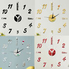 3D DIY Large Wall Clock Stickers Frame-less Modern Decorative Clock US