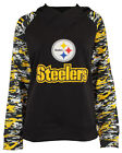 Zubaz NFL Women's Pittsburgh Steelers Camo Cowl Neck Hoodie, Black $34.95 USD on eBay