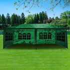 Heavy Duty 3Mx6M Gazebo Waterproof Marquee Canopy w/ Sides Outdoor Party Tent