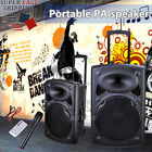 12/15In Best Sound System 2020 Portable Active PA Speaker Remote Bluetooth w/Mic