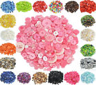 100pcs Resin Round Buttons For Sewing Apparel Scrapbooking Crafting Mixed Size